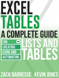 Excel Tables cover
